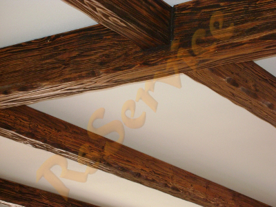 Soffitto in legno e cartongesso