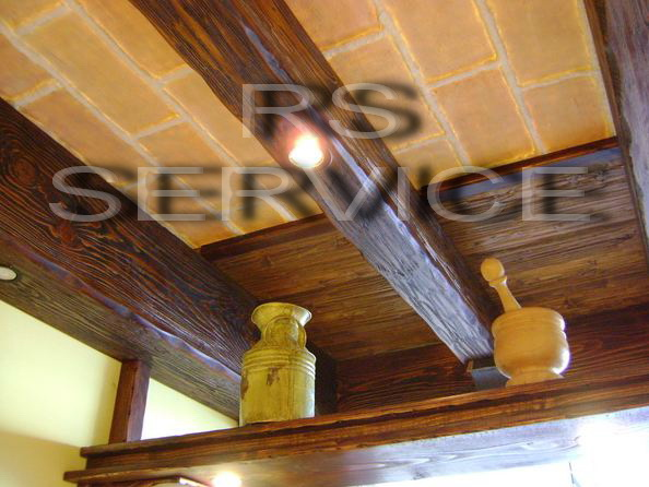 Rs Service :: Arredo per interni :: Finti Travi e Falsi Travi, In legno di ab...