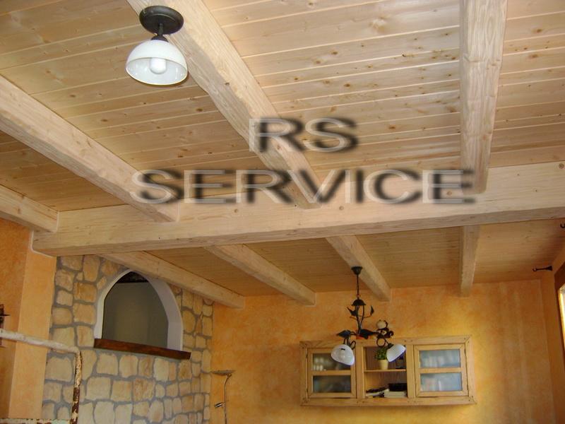 Rivestimento soffitto finto legno pannelli termoisolanti for Copri travi finto legno