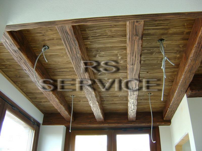Rs Service :: Prima e Dopo :: Controsoffitto in legno