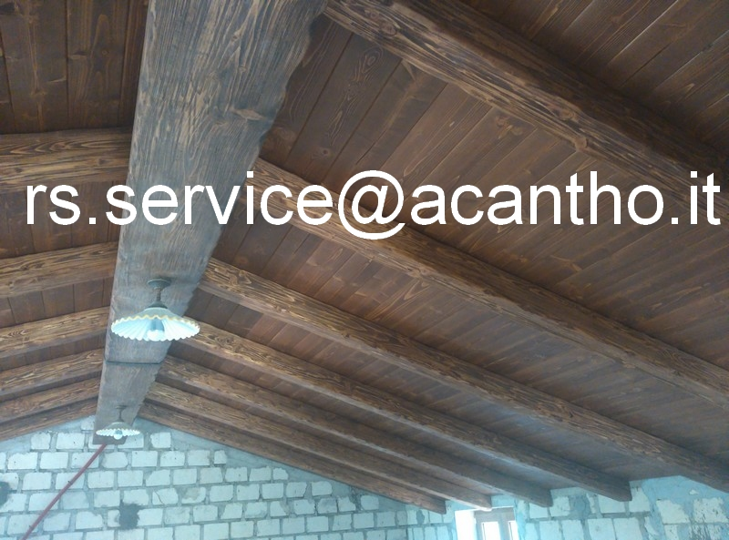 Travi Legno Soffitto Finte : Rs service arredo per interni finti travi e falsi travi in