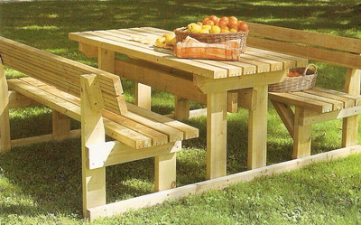 Rs service arredo da giardino fioriere e accessori tavolo con panche - Tavolo e panche da giardino ...